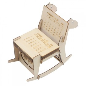 激光切割雕刻椴木层板diy毕业设计模型加工定制台历