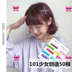 ins彩色发夹一字夹糖果色发夹韩版学生可爱少女网红