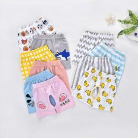 婴儿夏季纯棉短裤 男宝宝薄款开裆裤子1-2-3岁女