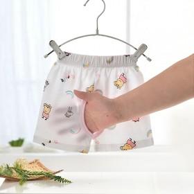 宝宝夏季竹纤维短裤婴儿薄款开裆五分裤女童夏装裤子男