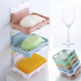 免打孔双层三层香皂盒子卫生间置物架沥水架肥皂盒虑水