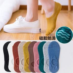 5双装 袜子女韩版短袜女生船袜夏季潮流日系浅口防滑