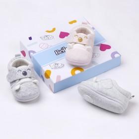 婴儿鞋0-1岁 软底秋冬男女宝宝鞋子冬0-6个月