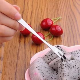 创意环保不锈钢水果叉时尚水果签 水果小叉子点心刀叉