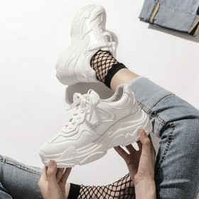 网红百搭学生厚底白色运动鞋女鞋港风老爹鞋超火小白鞋
