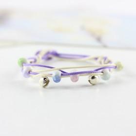 小清新陶瓷创意冰裂珠铃铛手链