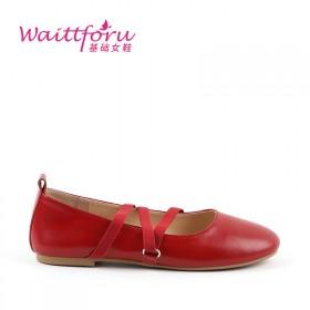 平底奶奶鞋单鞋女复古黑色酒红色玛丽珍鞋女鞋芭蕾舞鞋