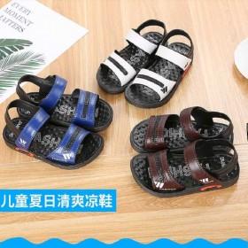 男童凉鞋夏季新款中大童真皮儿童沙滩鞋宝宝软底鞋