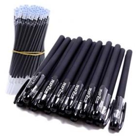10支 黑色磨砂中性笔子弹头全针管笔水性笔文化办公