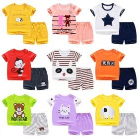 婴幼儿童短袖套装新款夏季薄款纯棉