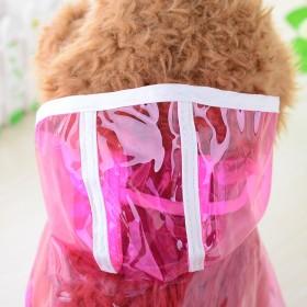 【包邮】小狗雨衣泰迪雨衣四脚款防水雨披透明宠物衣