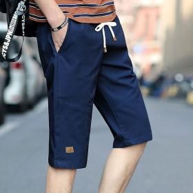 短裤男夏季休闲裤潮宽松大码大裤衩修身中裤沙滩裤