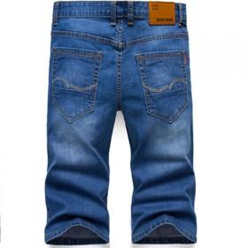 夏季薄款七分牛仔短裤男弹力直筒宽松休闲中裤男修身