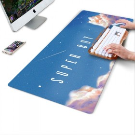 办公锁边鼠标垫超大号加厚定制做男女卡通动漫电脑桌垫
