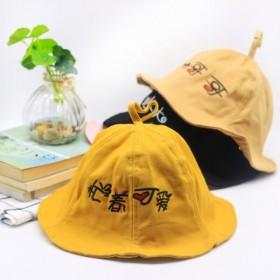儿童渔夫帽子春夏1-3岁婴儿遮阳帽薄款男童女宝宝