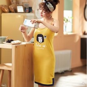 新款休闲薄款舒适女家居服时尚吊带睡衣女士睡裙