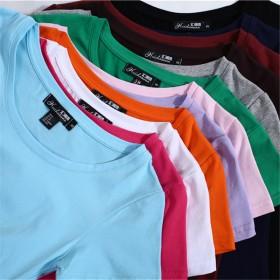 夏季新款广告衫白色T恤女文艺范女装女式休闲t恤