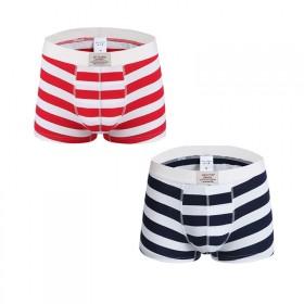 时尚潮男内裤纯棉平角裤2件青年舒适四角裤