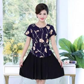 京东母亲节夏季短袖连衣裙