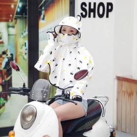 电动车防晒衣披肩电瓶车骑车防晒女薄款遮阳披肩夏季电