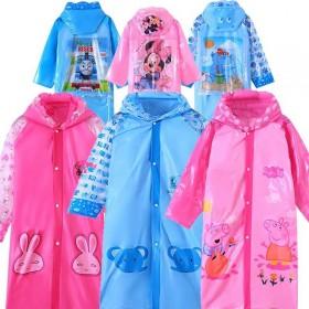 带书包位男女童小孩充气帽檐雨披幼儿园宝宝小学生雨衣