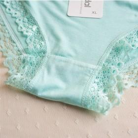 莫代尔舒适时尚少女三角裤 蕾丝花边女士内裤