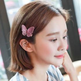 刺绣蝴蝶结发夹小压夹边夹刘海夹