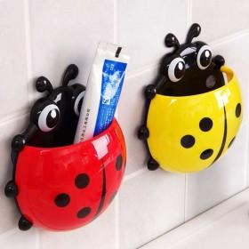 新款创意瓢虫吸盘牙刷架浴室壁挂牙具座