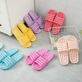 品彩室内家用软底拖鞋浴室洗澡防滑情侣外穿凉拖鞋女夏