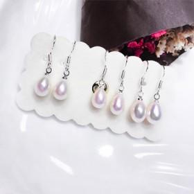 925纯银天然珍珠耳环韩国气质个性简约百搭耳饰一对