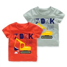 中小童新款纯棉体恤卡通儿童上衣夏季圆领男童短袖t恤