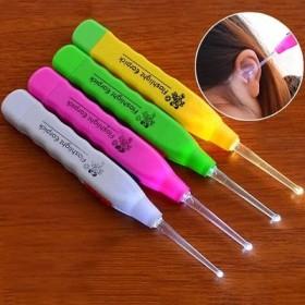 新款掏耳勺 儿童耳勺防滑洁耳器发光耳勺多色卡通图