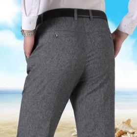夏季薄款中老年男士休闲裤