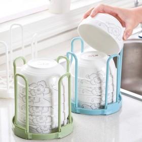 小清新放碗架厨房沥水架放碗架子塑料收纳架洗碗