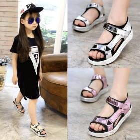 童鞋女童凉鞋2019新款韩版夏季小女孩学中大童鞋
