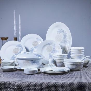 景德镇餐具碗碟套装 家用58件套