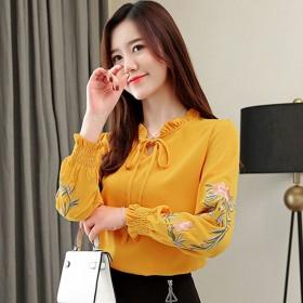 打底衫春装新款2019春季韩版长袖很仙的上衣百搭洋
