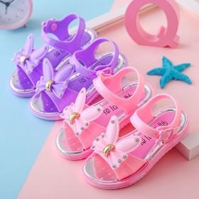 夏季新款女童沙滩鞋儿童学生防滑韩版中小童鞋公主鞋