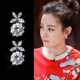 s925银针女耳针气质韩国个性简约蝴蝶结珍珠女耳环