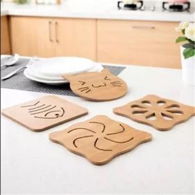 木质卡通隔热垫餐桌防滑锅垫碗垫子创意可爱茶杯垫杯垫