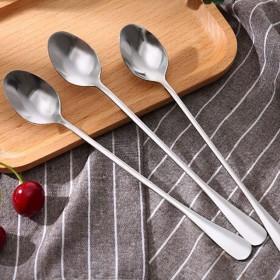 不锈钢勺子咖啡搅拌勺韩式家用餐具
