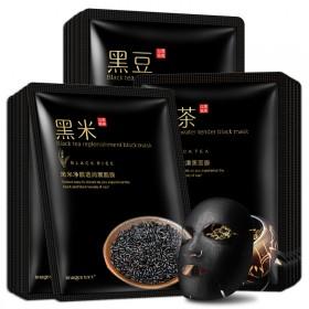 【15片】黑茶黑米黑豆面膜 补水保湿 男女通用