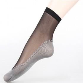 春夏女短款丝袜棉底透气防勾丝中筒薄款隐形女袜