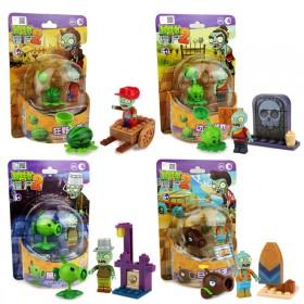 植物大战僵尸玩具儿童益智积木启蒙拼插多功能作战游戏