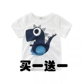 夏季儿童纯棉T恤婴儿宝宝短袖可爱卡通男女童上衣
