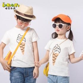 夏季儿童纯棉短袖t恤薄款男童女童半袖小男孩女童体恤