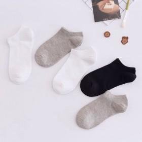 袜子女短袜子女低帮纯棉浅口韩国可爱白色黑色船袜女低
