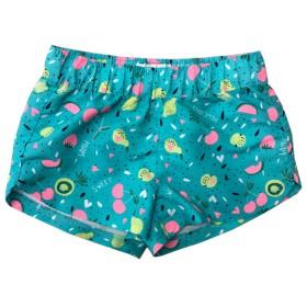 新款欧美原单童装户外沙滩游泳印花梭织速干轻薄女短裤