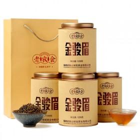 老农会 茶叶 红茶 金骏眉新茶4罐共500克礼盒装