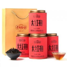 老农会 茶叶 乌龙茶 大红袍买1发4罐共400g礼